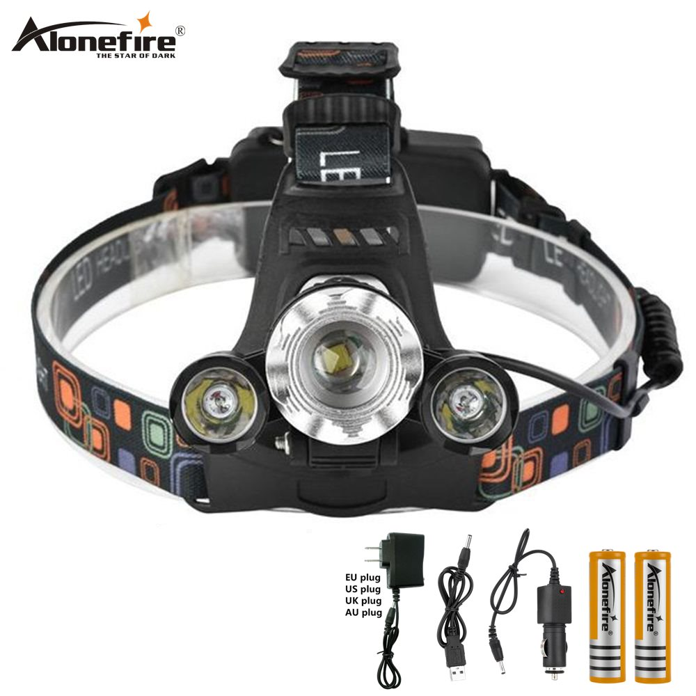 8000Lm LED Headlight Torch Cree T6 Running Rechargeable Headlamp Head Light Lam