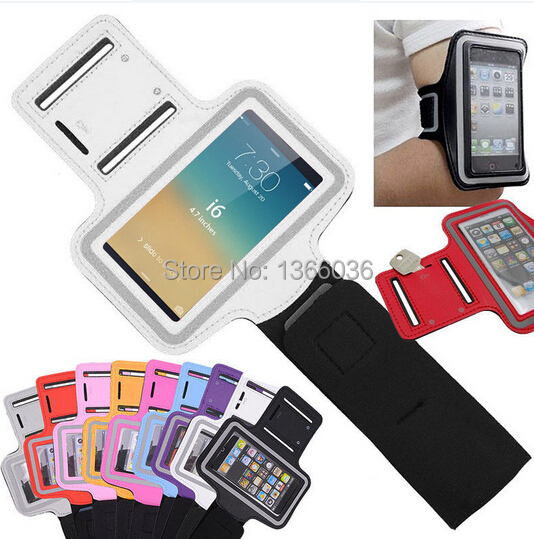 Fashion Portable Suitable Arm Band Sport Armband Colorful Phone Bag Protective For Iphone 6 Plus 5.5 Inch Soft And Light Armbands Cellphones & Telecommunications Sincere 300pcs/lot