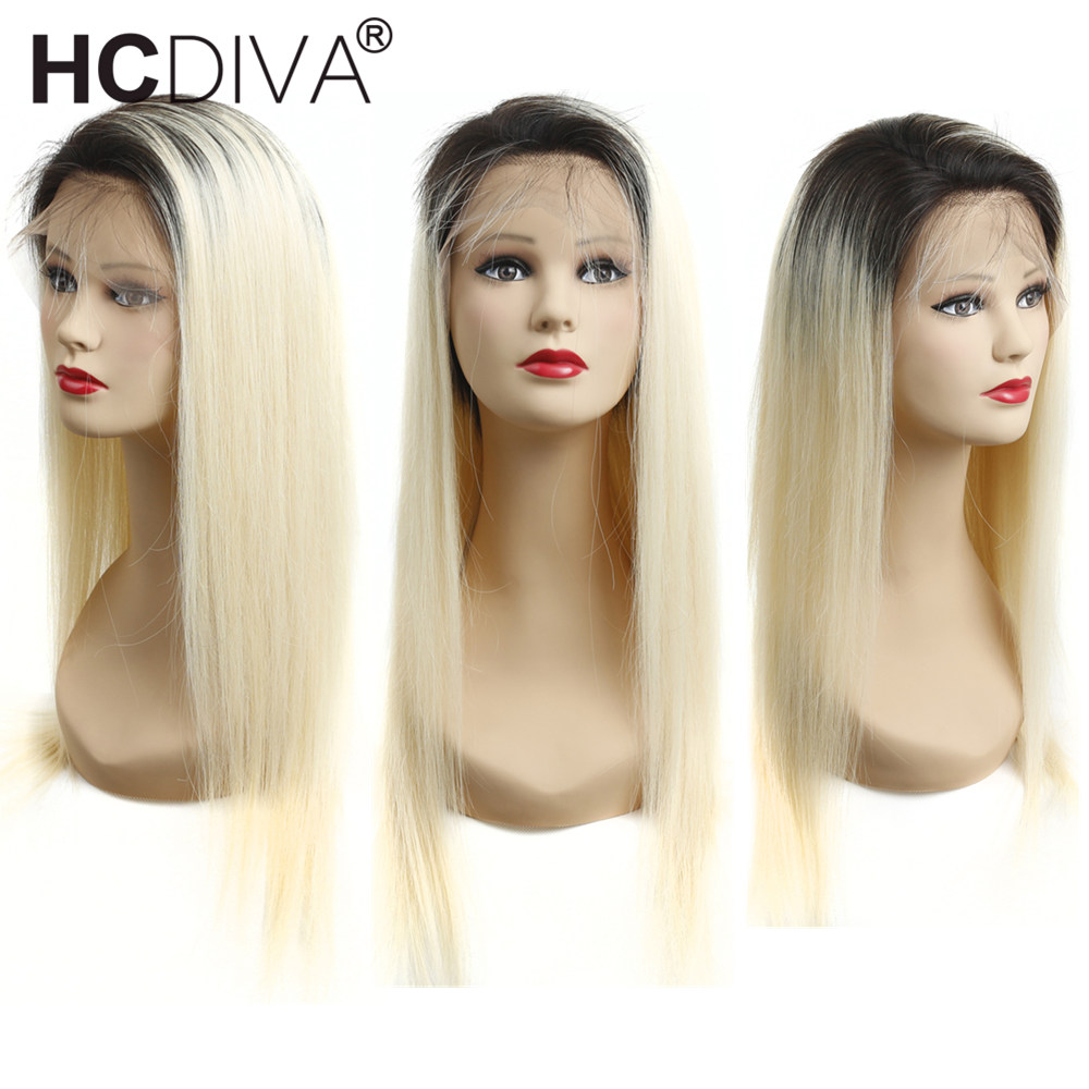 Ombre Lace Front Wig Pre Plucked With Baby Hair 150% Remy Brazilian Lace Ombre Blonde Wig For Women Full Lace Human Hair Wig