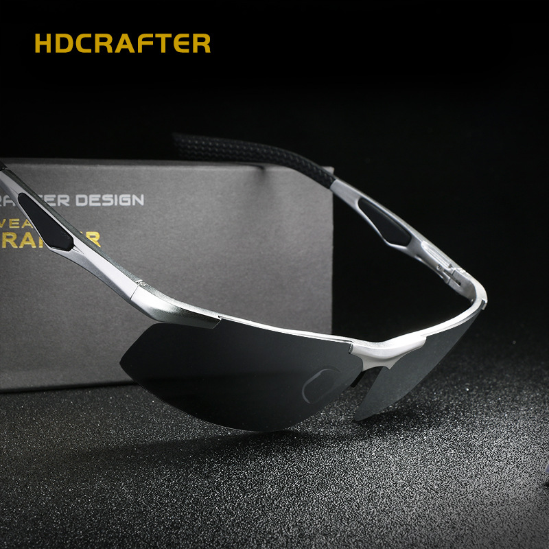 7f01d2df45 Small Night Driving Sunglasses Men Polarized Square Shades HDCRAFTER Gafas  De Sol De Los Hombres Eyewear