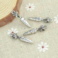 Wholesale 100pcs/lots alloy antique metal charm tibetan silver style carrot pendant fit jewelry making Z42563