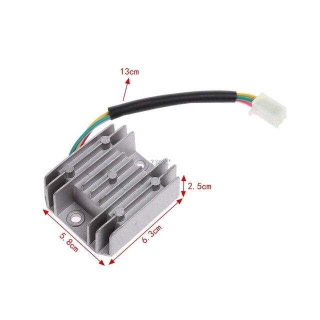 Redresseur de tension 4 fils ATV GY6 50 150cc | Régulateur de tension pour moto bateau Scooter JUN20_20