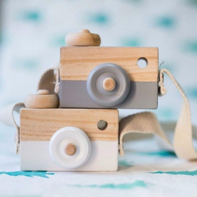 Belle caméra en bois mignon jouets pour bébé enfants chambre décor Articles d'ameublement enfant noël cadeaux d'anniversaire Style nordique européen