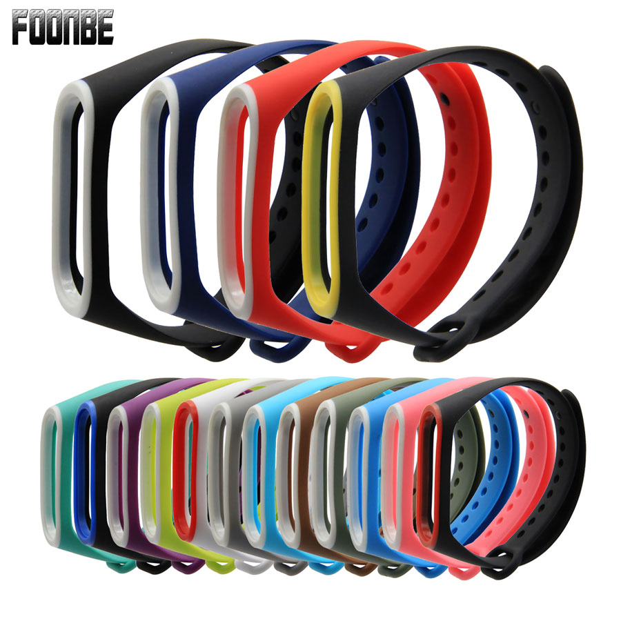 Double Color Bracelet For Xiaomi Mi Band 3 4 Sport Strap Watch Silicone Wrist Strap For Mi Band 3/4 Accessories Miband 4 3 Strap