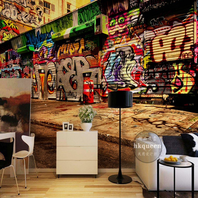 Free Shipping European Retro Hand Painted Abstract Graffiti Oil Painting Background living room lobby wallpaper 3D stereo mural  free shipping large mural wallpaper villa living room ceiling european oil painting wallpaper