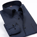 2017 Men Shirt Long Sleeve Large Big Sizes 6xl Striped Mens Dress Shirts Brand Clothing Camisa Social Masculina Vetement Homme