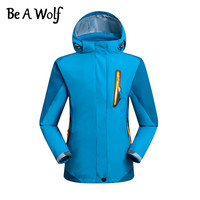 Be A Wolf Hiking Clothes Jacket Child Sport Camping Skiing Fishing Fleece Liner Winter Heated Jacket