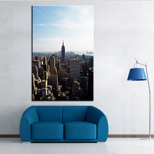 Large size Printing Oil Painting city houses skyline Wall painting POP Art Wall Art Picture For Living Room painting No Frame(China)