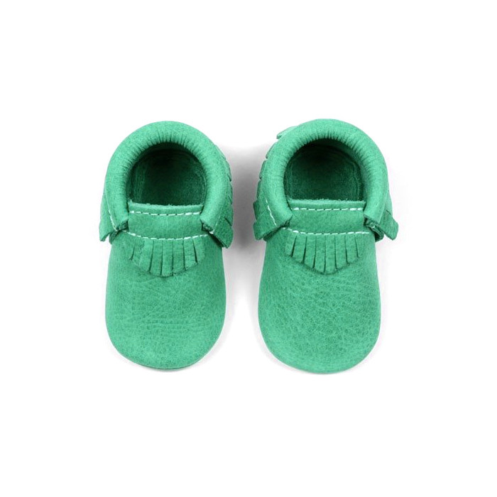 100 pairs Tasse Genuine cow Leather Tassels Baby Moccasins Soft Sole Infant First Walkers lace up Baby Girls shoes Crib Shoes