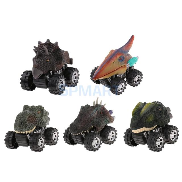 5pcs Vivid Animal Dinosaurs Figures Model Pull Back Cars Vehicle Jurassic  Toys Kids Children Baby Cool