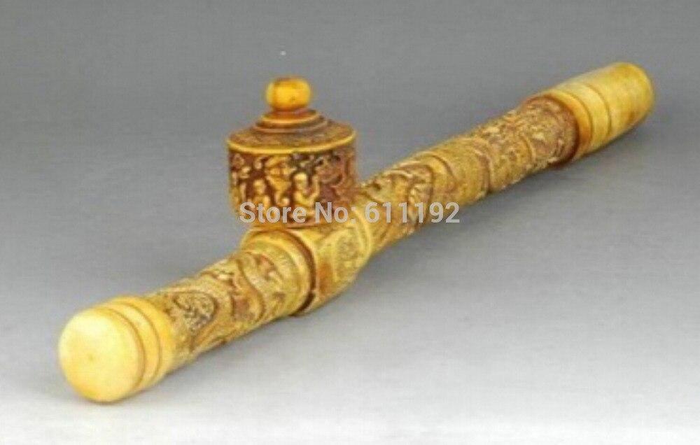 Wonderful Chinese Handwork Bone Carved Dragon Handwork Long Smoking Pipe Pipe Long Pipe Carvingpipe Smoking Aliexpress