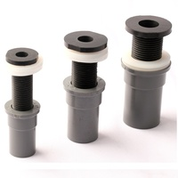 20 25 32mm Pipe Connectors Fish Tank Drainage Joints Width Style Clamp 0 50mm Thicken Glass