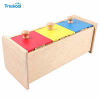 Montessori Kids Toy Baby Wood Colorful Drawer Box Learning Educational Preschool Training Brinquedos Juguets