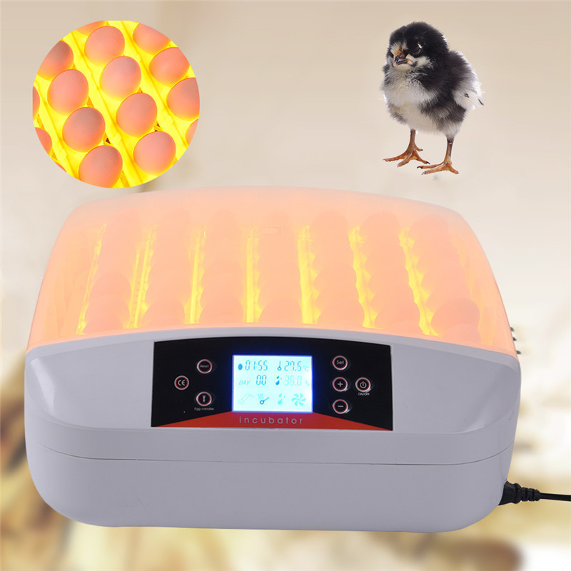 New High Quality 56 Eggs Incubator LCD Turn Tray Chickens Ducks Egg Observation Poultry Incubator Automatically Eggs Poultry