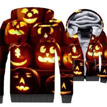 hip-hop funny cartoon 3D print hoodies 2019 new arrival Halloween jackets coats streetwear tracksuit wool liner plus sweatshirts