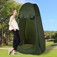 1人折りたたみキャンプテント屋外ハイキングテントシャワー浴室プールプライバシートイレルーム避難