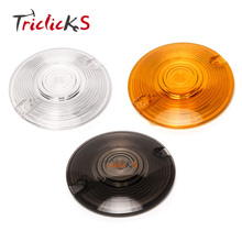 Triclicks Turn Signal Light Cover Clear Smoke Orange Lens Motorcycle Headlight Covers For 86-16 Harley Touring Road King Glide triclicks new turn signal lights lenses round cover lens motorcycle light covers car covers for dyna softail sportster touring