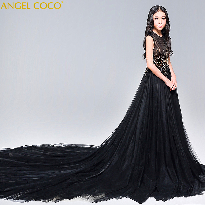 Girls Party Dress 2018 Elegant Girl Long Evening Dress For Wedding Ceremony Kids Dresses For Teen Girls Beauty Pageant Clothes цена
