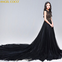 Girls Party Dress 2018 Elegant Girl Long Evening Dress For Wedding Ceremony Kids Dresses For Teen Girls Beauty Pageant Clothes