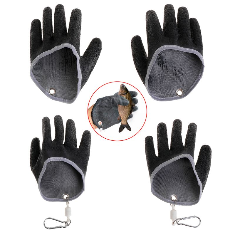 Fishing Gloves Non Slip Latex With Magnet Release Fish Grab Anti Skid  Capture Portable Universal Breathable Left/Right Hand
