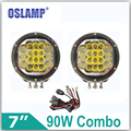 Oslamp 90W 7inch CREE LED Chips Driving Light OffRoad Led Work Lights 2pcs Combo Beam 12v 24v Truck SUV Car Headlights For Jeep