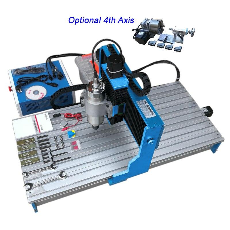 Square Line Rail Track 1.5KW 4 Axis USB CNC Router 4090 1500W Metal Engraving Milling Machine PCB Cutting