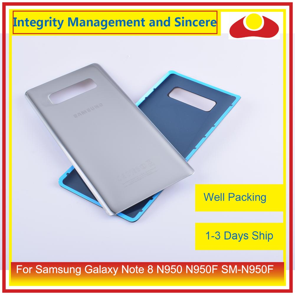 Image 2 - 50Pcs/lot For Samsung Galaxy Note 8 N950 N950F SM N950F N9500 Housing Battery Door Rear Back Glass Cover Case Chassis Shell-in Mobile Phone Housings & Frames from Cellphones & Telecommunications