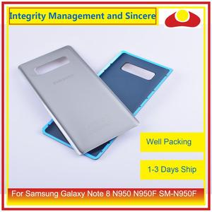 Image 2 - Original For Samsung Galaxy Note 8 N950 N950F SM N950F N9500 Housing Battery Door Rear Back Glass Cover Case Chassis Shell