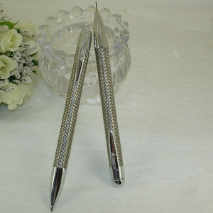 Image 5 - ACMECN 2 יח\חבילה מותג מתכת צמת עט 0.7mm עיפרון סט עם כרום מינוי עט מכאני עיפרון משרד מכתבים
