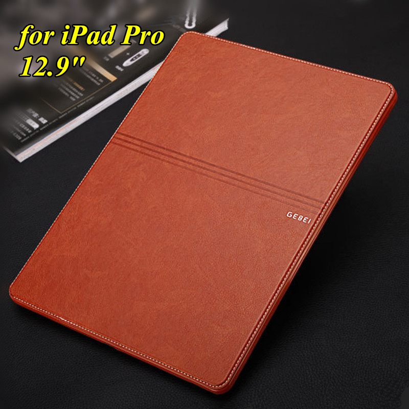 Luxury Brand Leather Case for Apple iPad Pro 12.9 Ultra Thin Slim Tablet Case Flip Book Cover Smart Case for iPad Pro 12.9 Inch 2017 servo servo tamiya rc plane carbon fiber professional qav250 c250 quadcopter lhi 2204 simonk 12a cc3d flight control prop