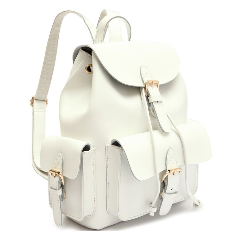 Super White Leather Backpacks | Cg Backpacks FE35