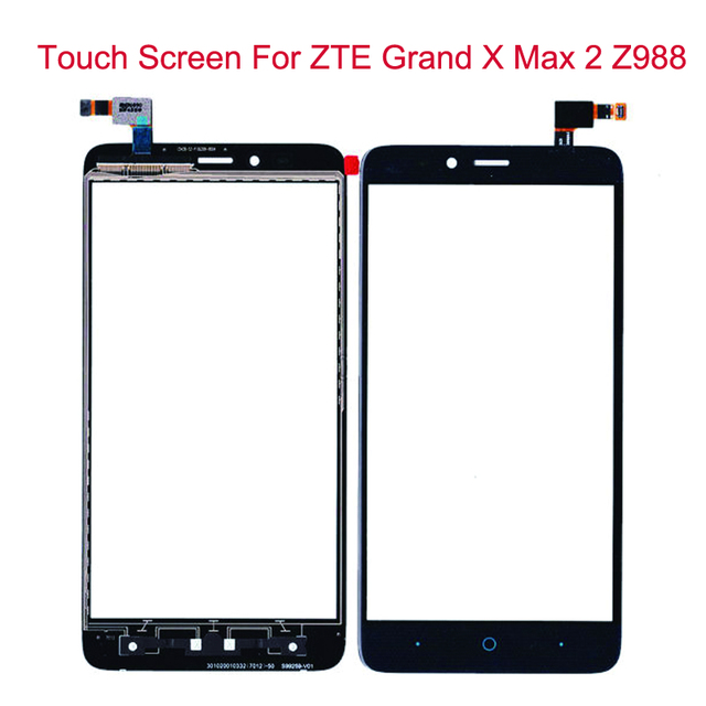 """Black Touch Screen For ZTE Grand X Max 2 Z988 Glass Lens Sensor Original 6.0"""" Front Touch Panel Replacement Mobile Accessory"""