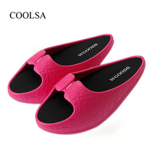 COOLSA Womens Body Slimming Legs Toning Shoes Women Stovepipe Foot Humpback Corrective Postpartum Fitness Slippers