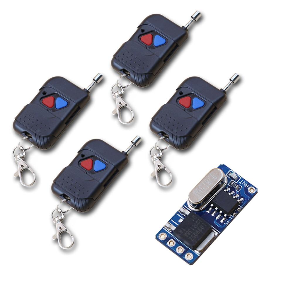 Wireless Remote Control Switch 3.7V 4.5V 5V 6V 9V 12V Wide Voltage Micro Receiver Switch+ Transmitter DC3.5V-12V 315/433MHZ самокат 978 5 91759 315 9