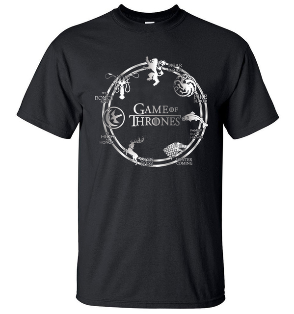 Cotton Game of Thrones T-shirts For Men