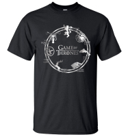 Game Of Thrones Men T Shirt 2017 Summer Hip Hop Men Short Sleeve Shirt 100 Cotton