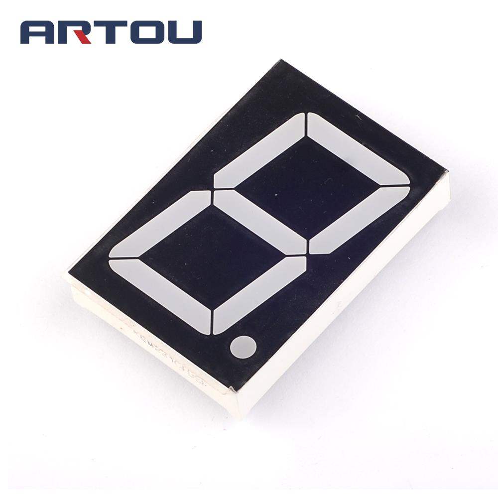 "10PCS Common Anode 1Bit Digital Tube 7 Segment 1.2"" Inch Red LED Display"