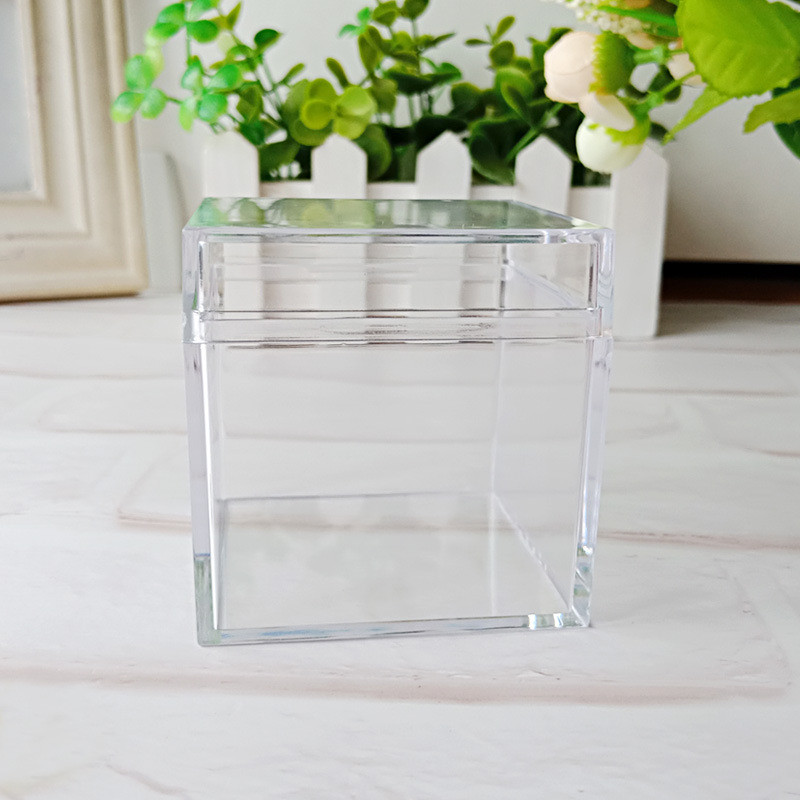 60pcs lot Square Storage Packaging Box Clear Plastic Candy Chocolate Gift Box for wedding birthday christmas