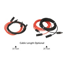 1 Pair  2meters Black +  2meters Red 10AWG Solar Panel Extension Cable Wire with MC4 Female and Male Connector