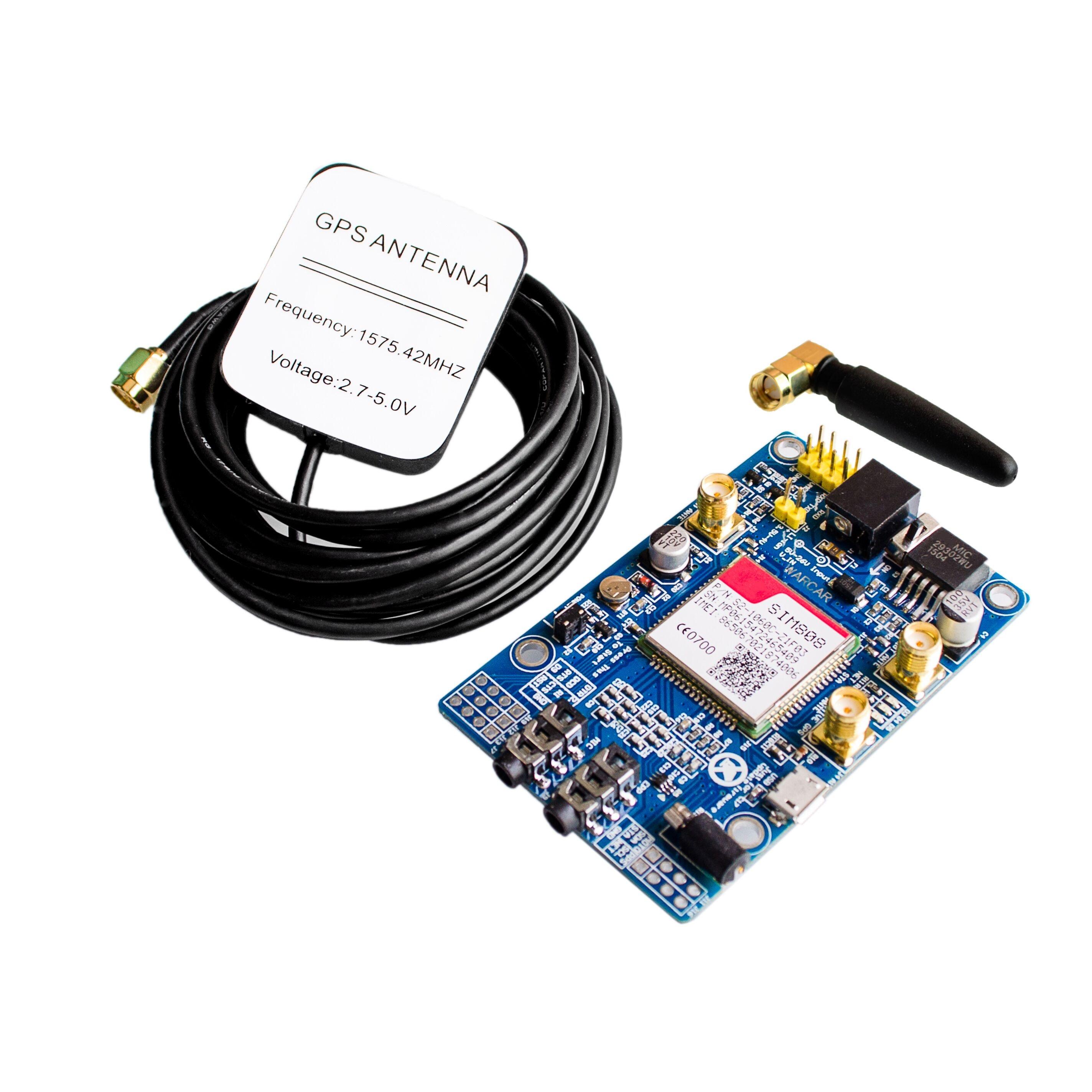 Sim808 módulo gsm gprs gps placa de desenvolvimento ipx sma com antena gps raspberry pi suporte 2g 3g 4g sim cartão