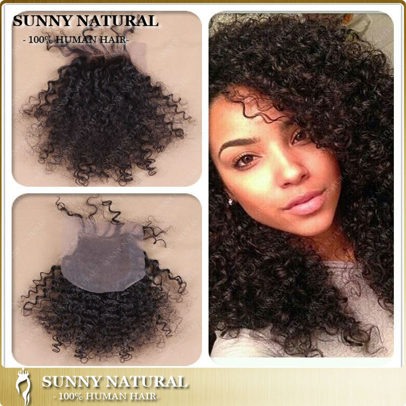 kinky curly lace closure bleached knots Brazilian lace front closure with  baby hair mongolian kinky curly lace closure for women 570bc898f
