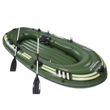 3-5 person 270cm length pvc inflatable boat fishing raft boat kayak rowing boat paddle air pump seat cushion bag rubber dinghy
