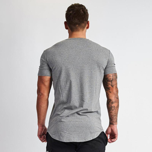 Muscleguys Neue Klar Kleidung fitness t hemd männer Oansatz t-shirt baumwolle bodybuilding t shirts slim fit tops turnhallen t-shirt Homme