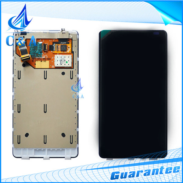 1 piece tested free shipping replacement parts for nokia lumia 800 N800 lcd display+touch screen digitizer with frame assembly