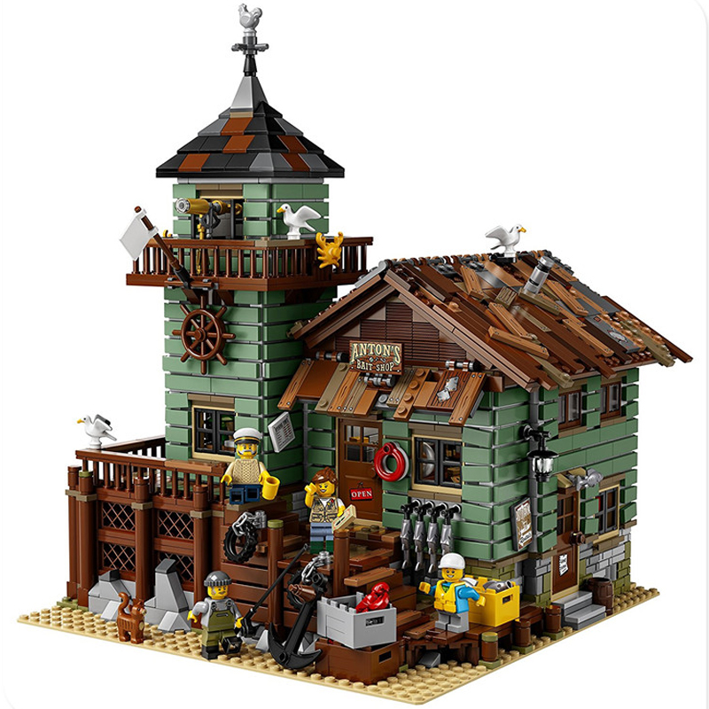 LEPIN 16050 Streetview Series 2294pcs The Old Finishing Store Model Building Block Bricks set Toys For children 21310 Gift lepin 24020 creative series features robo explorer set 31062 model building kits block bricks toys gift for children
