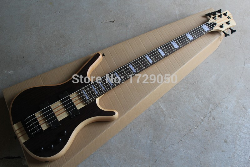 free shipping china Custom shop Top Quality 2017 W LTD Corvette 5 strings Bass natural one piece neck electric bass 930