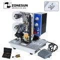ZONESUN полуавтоматический горячего штамп машина для нанесения кодировки ленты даты характер Hot Code принтер hp-241 лента аппарат для кодирования и...