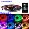 4pcs 120cm 150cm Car Flexible LED Strip RGB Music Control Decorative Atmosphere Lamps Auto Under Body