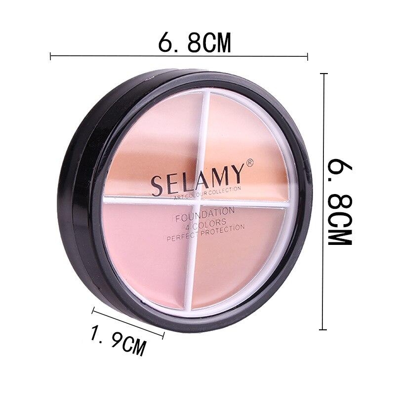 1x Natural Professional Concealer Palettes 4 Colors Cover Black Circles Make Up Contour Face Cream Cosmetics SELAMY MR01