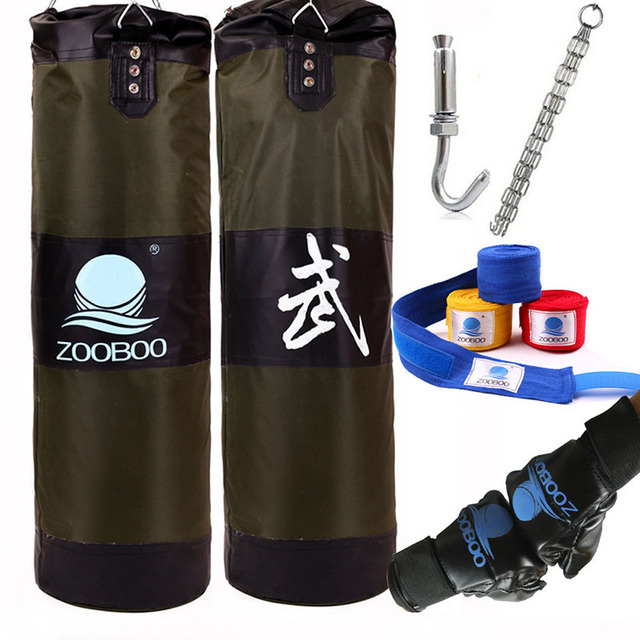 100cm Boxing Punching Bag Fitness Sandbags Striking Drop Hollow Empty Sand With Chain Martia